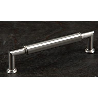 Rk International Cylinder 5'' Center Bar Pull; Satin Nickel