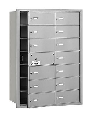 Salsbury Industries 14 Door Front Load 4B Horizontal Mail Center; Aluminum