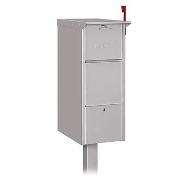 Salsbury Industries Aluminum 2 Unit Parcel Locker; Silver