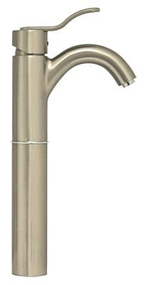 Whitehaus Collection Galleryhaus Single Hole Bathroom Faucet with; Brushed Nickel