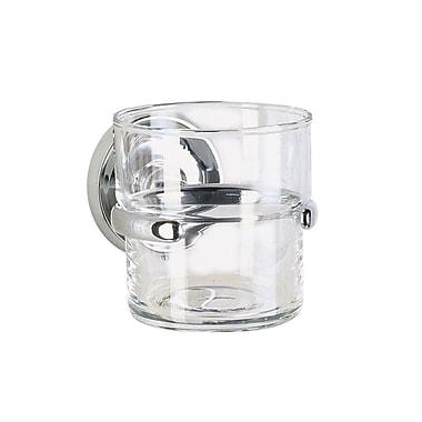 Smedbo Villa Glass Tumbler and Tumbler Holder; Polished Chrome