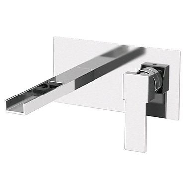 Remer by Nameek's Single Handle Wall Mounted Bathroom Sink Faucet
