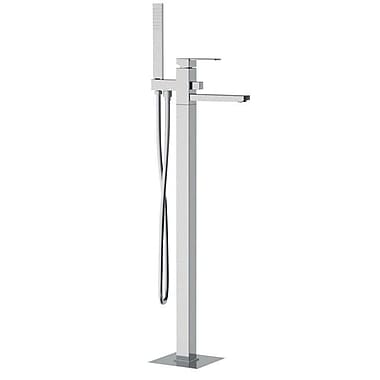 Remer by Nameek's Single Handle Floor Mounted Tub Filler Trim w/ Shower Spout