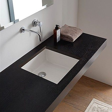 Scarabeo by Nameeks Miky Square Undermount Bathroom Sink