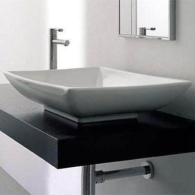 Scarabeo by Nameeks Kylis Ceramic Rectangular Vessel Bathroom Sink