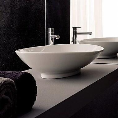 Scarabeo by Nameeks Neck Oval Vessel Bathroom Sink