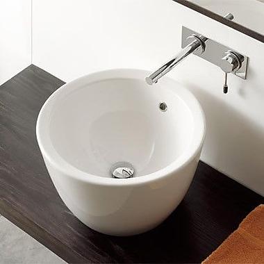 Scarabeo by Nameeks Matty Tondo Circular Vessel Bathroom Sink w/ Overflow