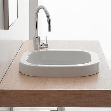 Scarabeo by Nameeks Next Built-In Self Rimming Bathroom Sink