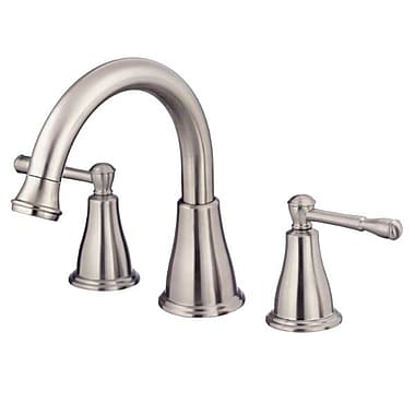 Danze Eastham Double Handle Deck Mount Roman Tub Faucet; Brushed Nickel