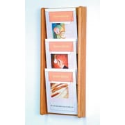 Wooden Mallet 3 Pocket Wall Display; Light Oak