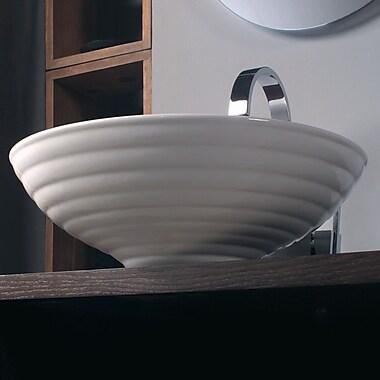 WS Bath Collections Ceramica Circular Vessel Bathroom Sink; Single Hole