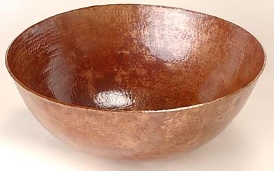 D'Vontz Copper Bathroom Sinks Metal Circular Vessel Bathroom Sink; Dark Smoke Copper