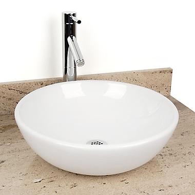 D'Vontz Sphere China Circular Vessel Bathroom Sink