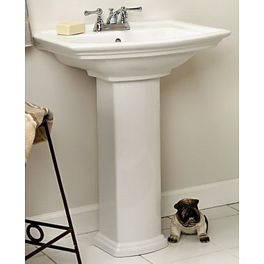 Barclay Washington 460 Vitreous China 19'' Pedestal Bathroom Sink w/ Overflow; 4'' Centers