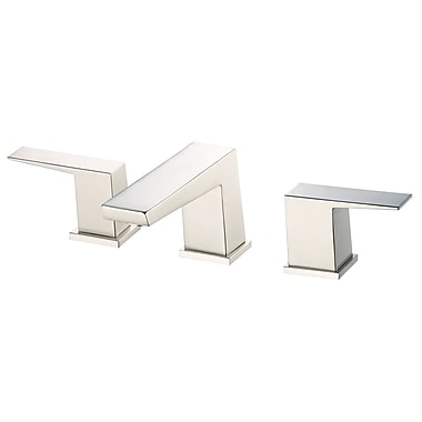 Danze Mid-Town Double Handle Deck Mount Roman Tub Faucet; Brushed Nickel