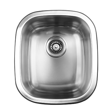 Ukinox 15.5'' x 17.75'' Dual Mount Single Bowl Kitchen Sink