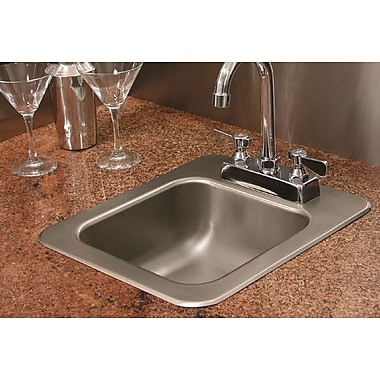A-Line by Advance Tabco 14'' X 12'' Single Bowl Drop-In Kitchen Sink