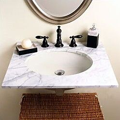 DecoLav Carlyn Classically Redefined Ceramic Oval Undermount Bathroom Sink w/ Overflow; White