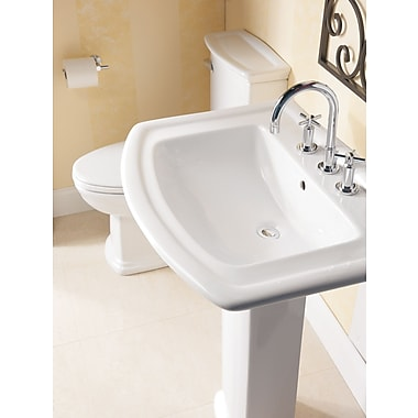 Barclay Washington 765 Vitreous China 30'' Pedestal Bathroom Sink w/ Overflow; 8'' Centers