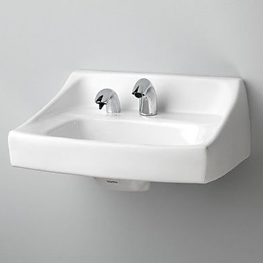 Toto Commercial Vitreous China 21'' Wall Mount Bathroom Sink w/ Overflow