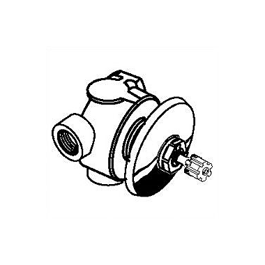 American Standard 2 Way in Wall Diverter Valve; Polished Brass