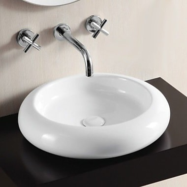 Caracalla Ceramica II Ceramic Circular Vessel Bathroom Sink