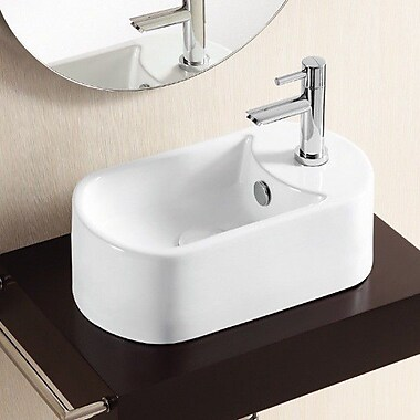 Caracalla Ceramica II Specialty Vessel Bathroom Sink w/ Overflow