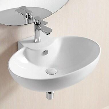 Caracalla Ceramica II 24'' Wall Mounted Bathroom Sink w/ Overflow
