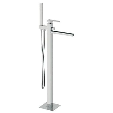 Remer by Nameek's Single Handle Floor Mounted Tub Filler w/ Hand Shower
