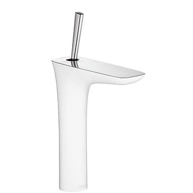 Hansgrohe PuraVida Single Handle Single Hole Standard Bathroom Faucet; Chrome/White