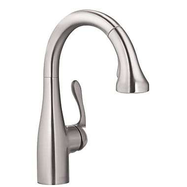 Hansgrohe Allegro E Pull Down Single Handle Kitchen Faucet; Steel Optik