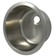 Opella 13.8'' x 13.8'' Round Bar Sink; Brushed Stainless Steel
