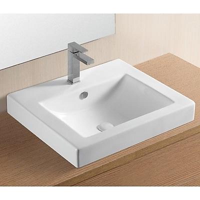 Caracalla Ceramica II Ceramic Rectangular Drop-In Bathroom Sink w/ Overflow