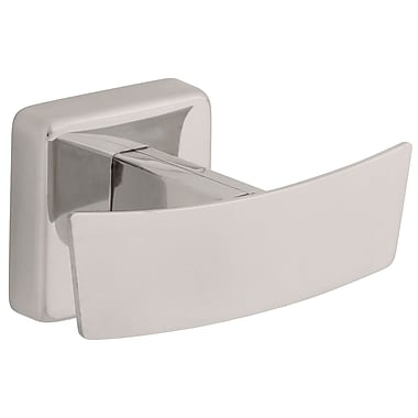 Franklin Brass Century Wall Mounted Double Robe Hook; Bright Stainless Steel