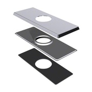 Danze 4'' Centerset Square Cover Plate; Brushed Nickel