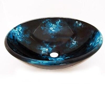 Legion Furniture Glass Circular Vessel Bathroom Sink