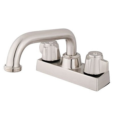 Elements of Design Centerset Bathroom Faucet; Polished Chrome