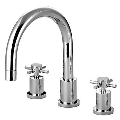Kingston Brass Concord Two Handle Roman Tub Faucet; Polished Chrome