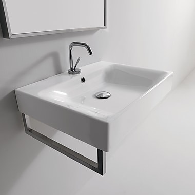 WS Bath Collections Kerasan Cento 19.7'' Wall Mount Bathroom Sink w/ Overflow