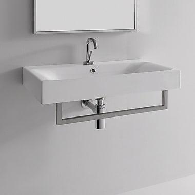 WS Bath Collections Kerasan Cento 27.6'' Wall Mount Bathroom Sink w/ Overflow