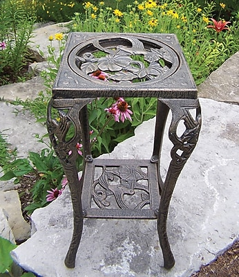 Oakland Living Hummingbird Novelty Plant Stand; Antique Bronze