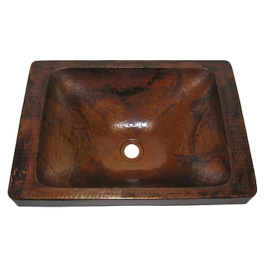 Novatto Santa Cruz Metal Rectangular Drop-In Bathroom Sink; Natural