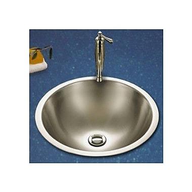 Houzer Club Metal Circular Undermount Bathroom Sink w/ Overflow