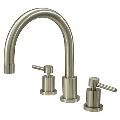 Kingston Brass Concord Two Handle Roman Tub Faucet; Satin Nickel