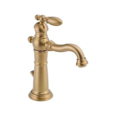 Delta Victorian Single Hole Bathroom Faucet; Brilliance Champagne Bronze