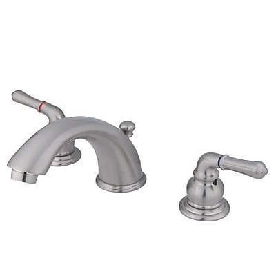 Elements of Design Widespread Bathroom Faucet w/ Drain Assembly; Satin Nickel