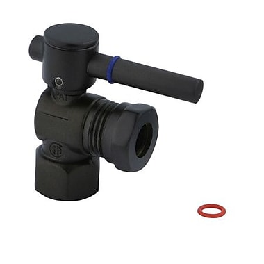 Elements of Design South Beach Angle Stop Valve; Oil Rubbed Bronze