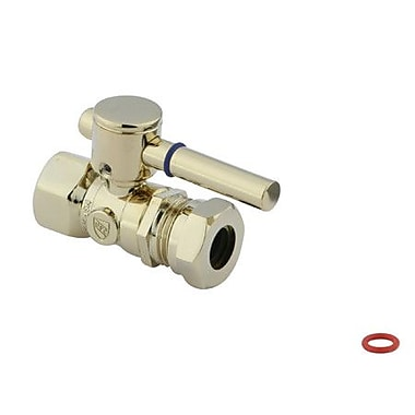 Elements of Design South Beach Straight Stop Valve; Polished Brass