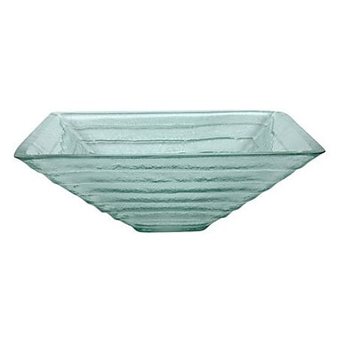 Elements of Design Glass Square Vessel Bathroom Sink