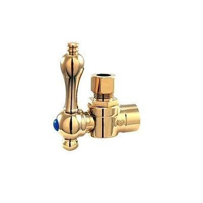 Elements of Design Quarter Single hole Bathroom Faucet; Polished Brass